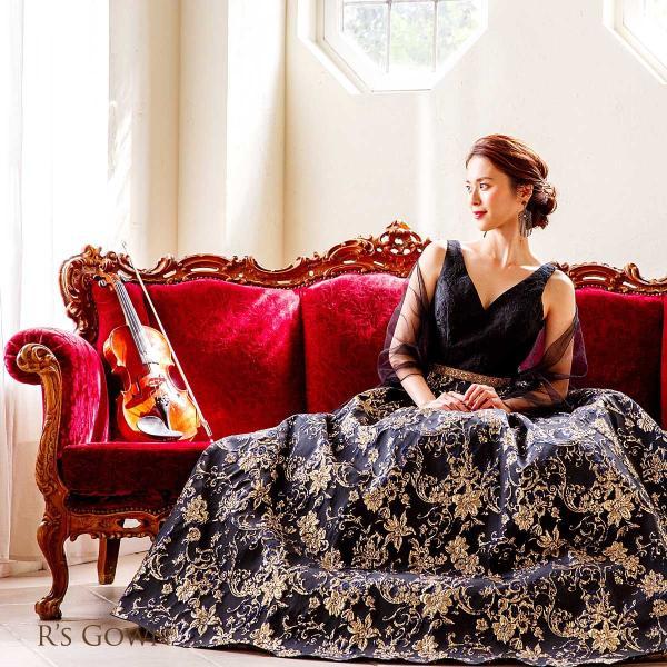 ロングドレス 演奏会 リサイタル 発表会 ピアノ ステージ 結婚式 声楽 舞台 大きいサイズ  パーティー FD-080265|rs-gown|07