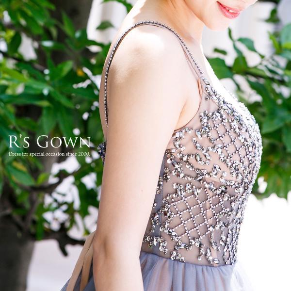ロングドレス 演奏会 ステージ 声楽 Aライン プリンセス パーティー ベージュ チュール 大きいサイズ フォーマル FD-080268|rs-gown|08