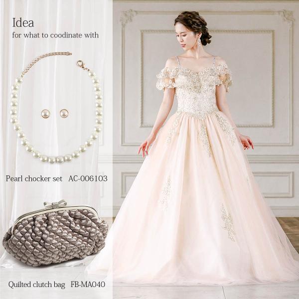 ロングドレス 演奏会 発表会 結婚式 刺繍 パーティー オフショルダ ステージ ゴールド 大きいサイズ FD-080271 rs-gown 11