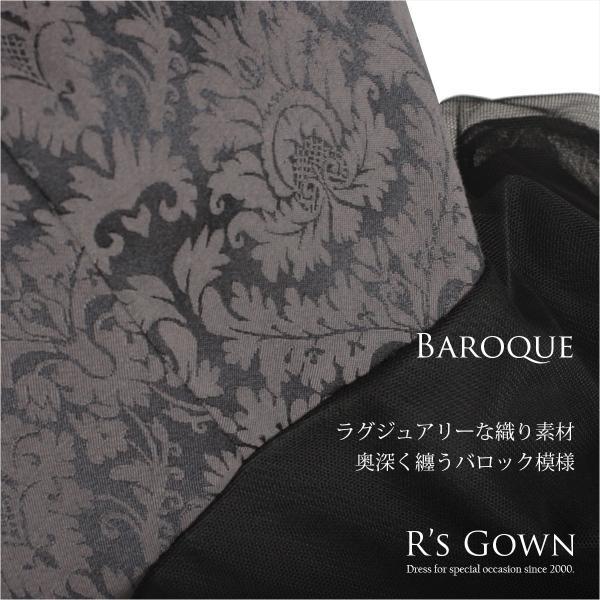 ロングドレス ボレロ セット 結婚式 母親  50代 60代 親族 羽織 ジャケット 洋装 衣装 マザーズドレス 家族 ブラック 黒 パーティー 袖 大きいサイズ  FD-180095|rs-gown|05