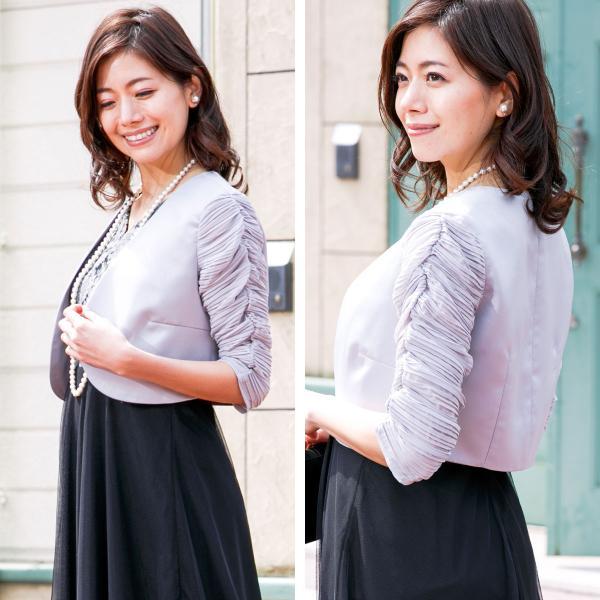ロングドレス ボレロ セット 結婚式 母親  50代 60代 親族 羽織 ジャケット 洋装 衣装 マザーズドレス 家族 ブラック 黒 パーティー 袖 大きいサイズ  FD-180095|rs-gown|10