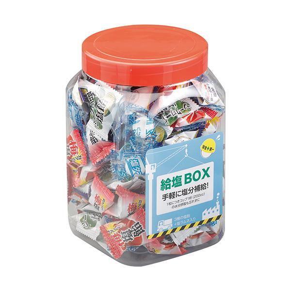 3種類の塩飴と塩タブレットを1つのボトルにミックス! 給塩ボックス 1ケース(6ボトル入)