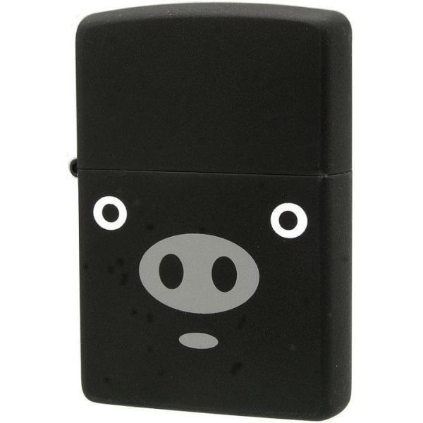 ★ ZIPPO(ジッポー) オイルライター アニマル ブタ ブーブー 黒 63320298