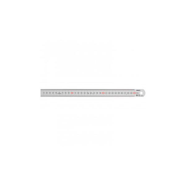 ステンレス・アルミ定規 ヤマヨ シルバー直尺 30cm 108-0003