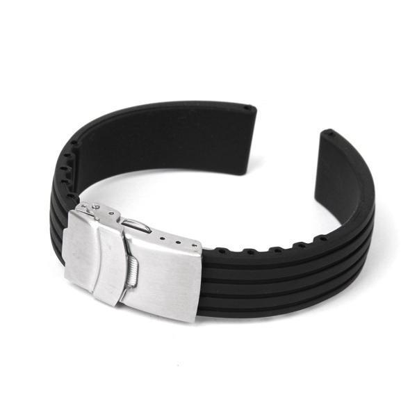 時計バンド 腕時計 交換ベルトストラップ シリコーン ナイロン シリコン 防水 R1085-JH|rtk0727|03