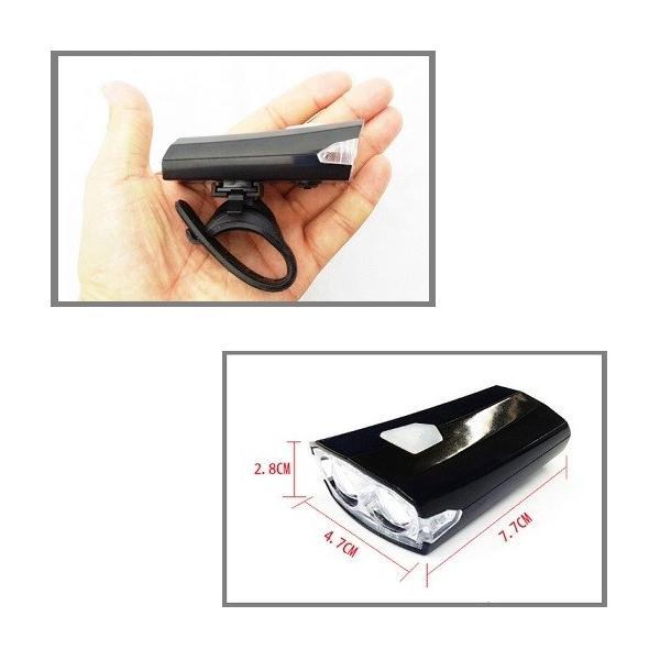 自転車 ライト 明るい LED 防水 USB 充電式 持ち運び 工具不要 簡単 人気 オススメ R1308-JH|rtk0727|02