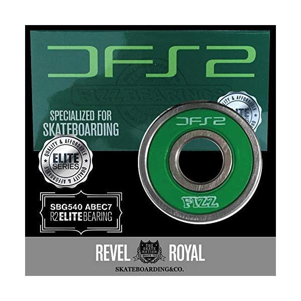 レベルロイヤル(Revel Royal) DFS2 BEARINGS SBG540 ABEC7 フィズ スケートボード (スケボー) ベアリング 《8|rtmy-rtmy-rtmy|03