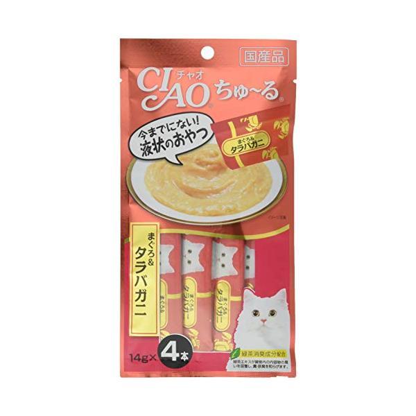 チャオ (CIAO) 猫用おやつ ちゅ~る まぐろタラバガニ入り 14g×4本入×6個 (まとめ買い)