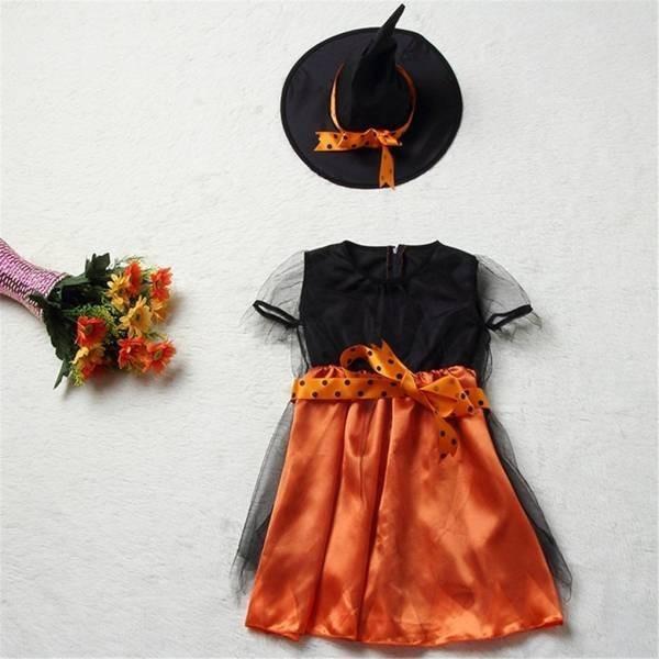 ハロウィン コスプレ 仮装 とんがり帽子 魔女 ドレス 女の子 (S) 95-100cm|rtrade123