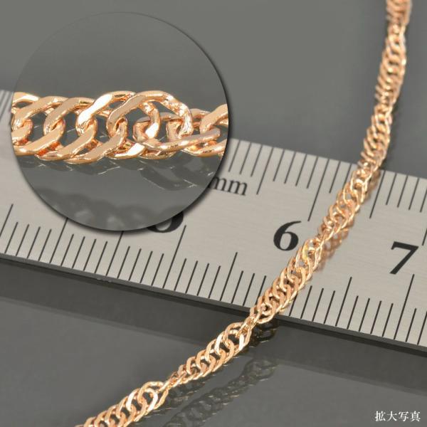 ネックレス チェーン 18金 ピンクゴールド スクリューチェーン 幅2.0mm 長さ60cm|鎖 K18PG 18k 貴金属 ジュエリー レディース メンズ