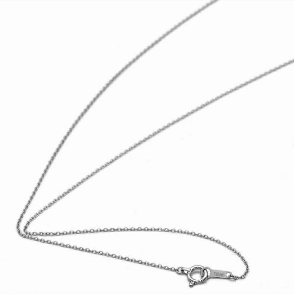 ネックレス チェーン 18金 ホワイトゴールド 小豆チェーン 幅0.9mm 長さ60cm|鎖 K18WG 18k 貴金属 ジュエリー レディース メンズ