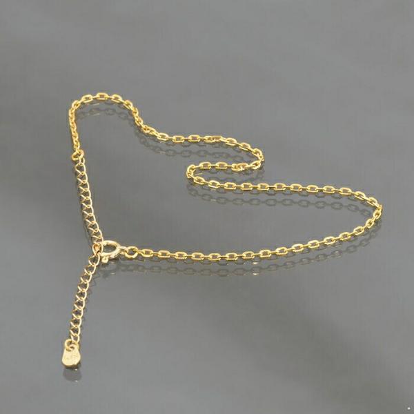 アンクレット チェーン 18金 イエローゴールド 4面カット小豆チェーン 幅1.5mm 長さ24cm|鎖 K18YG 18k 貴金属 ジュエリー レディース メンズ