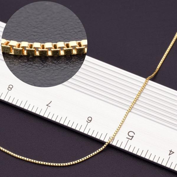 アンクレット チェーン 18金 イエローゴールド ベネチアンチェーン 幅0.5mm 長さ24cm|鎖 K18YG 18k 貴金属 ジュエリー レディース メンズ