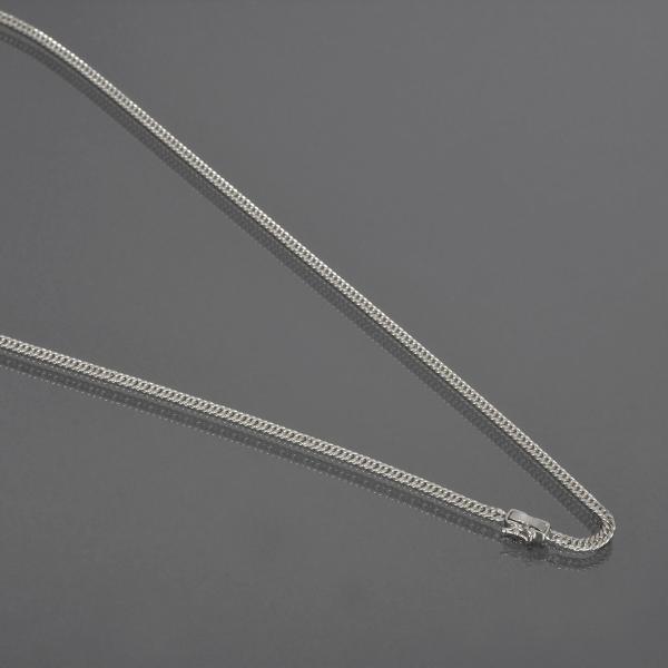 ネックレス チェーン PT850 プラチナ 2面カットダブル喜平チェーン 幅2.9mm 長さ80cm|鎖 850pt 貴金属 ジュエリー レディース メンズ