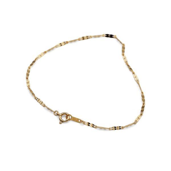 ブレスレット チェーン 18金 イエローゴールド カット2ペダルチェーン 幅1.8mm|鎖 K18YG 18k 貴金属 ジュエリー レディース