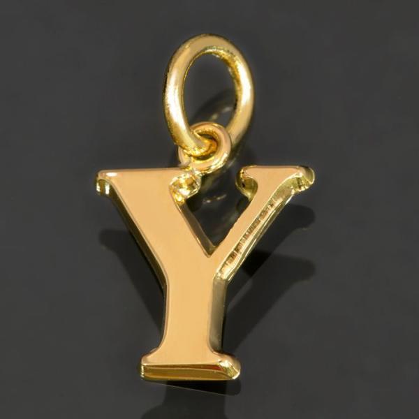 ペンダントトップ 18金 イエローゴールド Y イニシャルのペンダント Mサイズ ペンダントヘッドのみ アルファベット 文字|貴金属 ジュエリー レディース メンズ