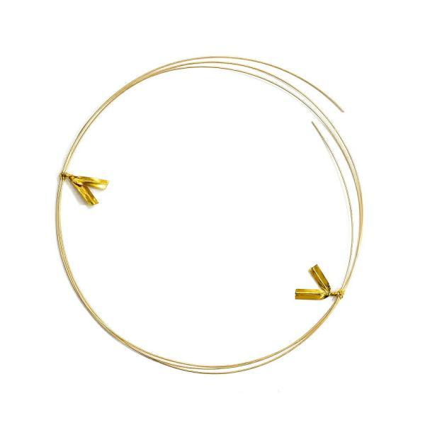 ワイヤーパーツ 18金 イエローゴールド 丸線ワイヤー 半なまし 線径0.5mm 長さ50cm 針金 線材 パーツ 部品 貴金属