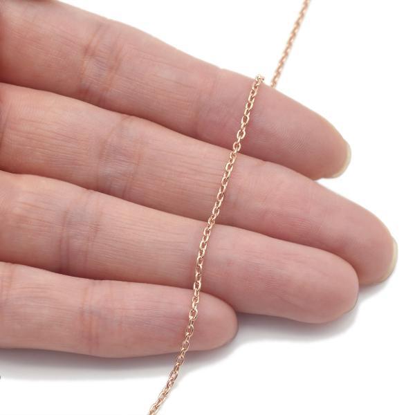 ネックレス チェーン 10金 ピンクゴールド 小豆チェーン 幅1.5mm 長さ70cm|鎖 K10PG 10k 貴金属 ジュエリー レディース メンズ