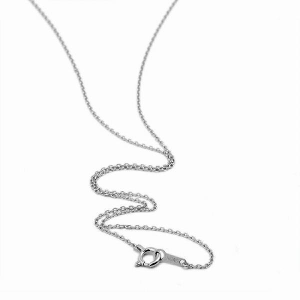 ネックレス チェーン 18金 ホワイトゴールド 4面カット小豆チェーン 幅1.1mm 長さ60cm 鎖 K18WG 18k 貴金属 ジュエリー レディース メンズ