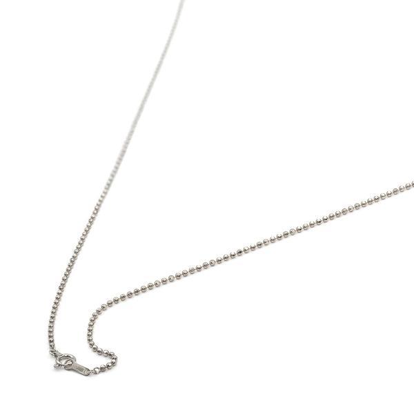 ネックレス チェーン 18金 ホワイトゴールド カットボールチェーン 幅1.5mm 長さ60cm|鎖 K18WG 18k 貴金属 ジュエリー レディース メンズ