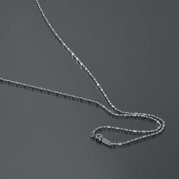 ネックレス チェーン サージカルステンレス 316L カット変形ボールBRチェーン 幅1.5mm 長さ45cm|鎖 ステンレス アクセサリー レディース メンズ