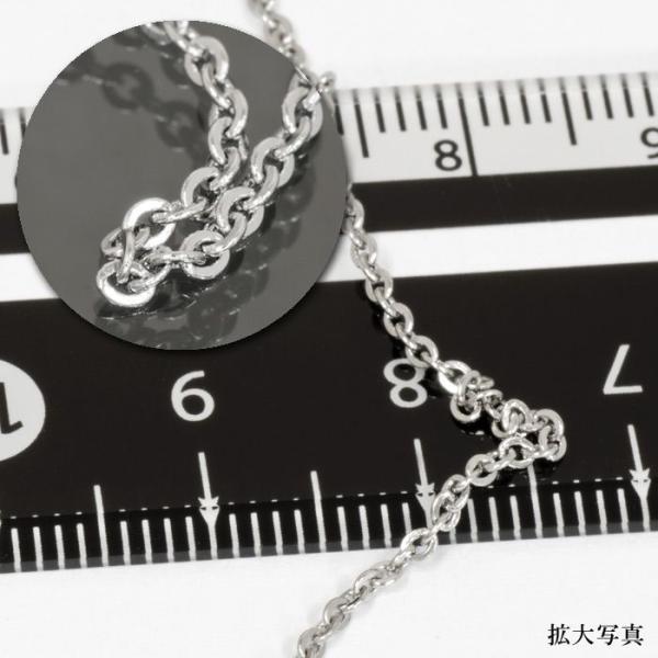 ネックレス チェーン サージカルステンレス 316L フラット小豆チェーン 幅1.4mm 長さ50cm|鎖 ステンレス アクセサリー レディース メンズ