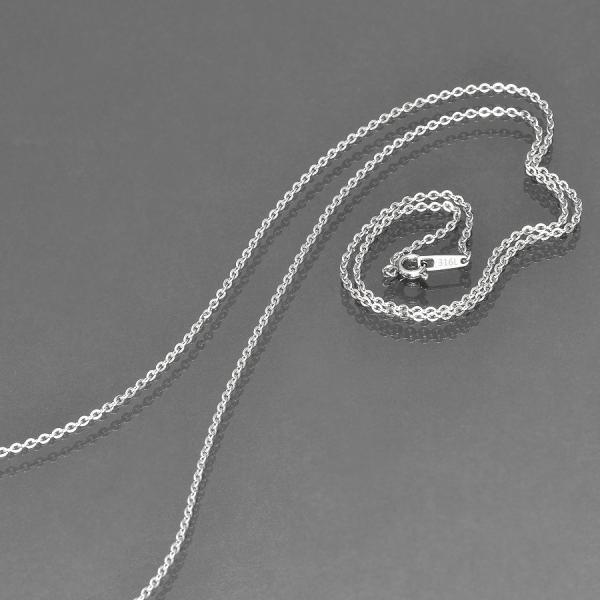 ネックレス チェーン サージカルステンレス 316L フラット小豆チェーン 幅1.9mm 長さ90cm|鎖 ステンレス アクセサリー レディース メンズ