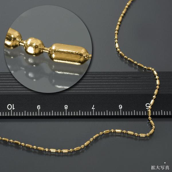 ネックレス チェーン サージカルステンレス 316L 金色 カット変形ボールBRチェーン 幅1.2mm 長さ55cm|鎖 ステンレス アクセサリー レディース メンズ
