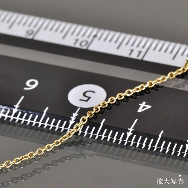 ネックレス チェーン サージカルステンレス 316L 金色 小豆チェーン 幅1.2mm 長さ80cm 鎖 ステンレス アクセサリー レディース メンズ