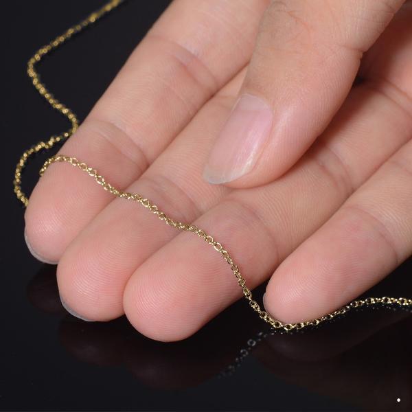 ネックレス チェーン サージカルステンレス 316L 金色 小豆チェーン 幅1.2mm 長さ80cm|鎖 ステンレス アクセサリー レディース メンズ