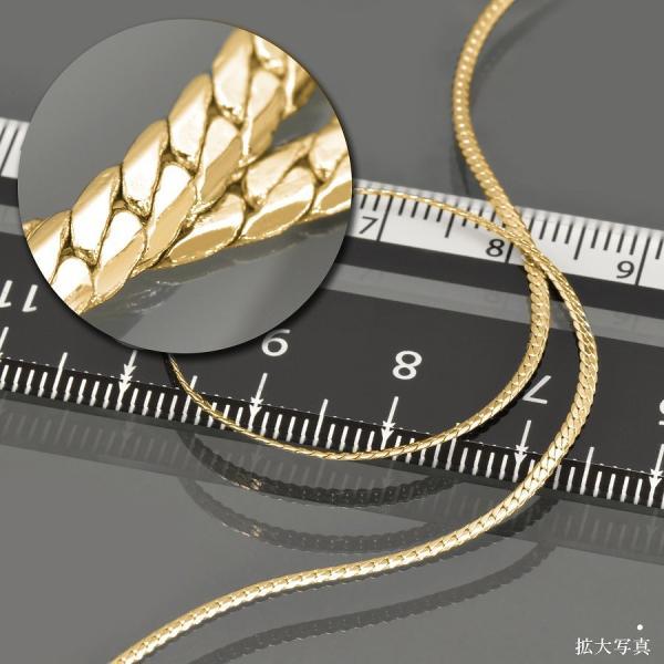 ネックレス チェーン サージカルステンレス 316L 金色 ヘリンボーンチェーン 幅1.4mm 長さ50cm|鎖 ステンレス アクセサリー レディース メンズ