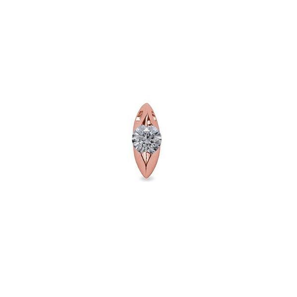 ペンダントトップ 18金 ピンクゴールド 天然石 マーキス型石座の一粒ペンダント 主石の直径約5.2mm 二本爪留め ペンダントヘッドのみ K18PG 18k 貴金属