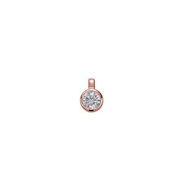 ペンダントトップ 18金 ピンクゴールド 天然石 一粒ペンダント 主石の直径約4.1mm 二段腰 伏せ込み ペンダントヘッドのみ|K18PG 18k 貴金属 ジュエリー