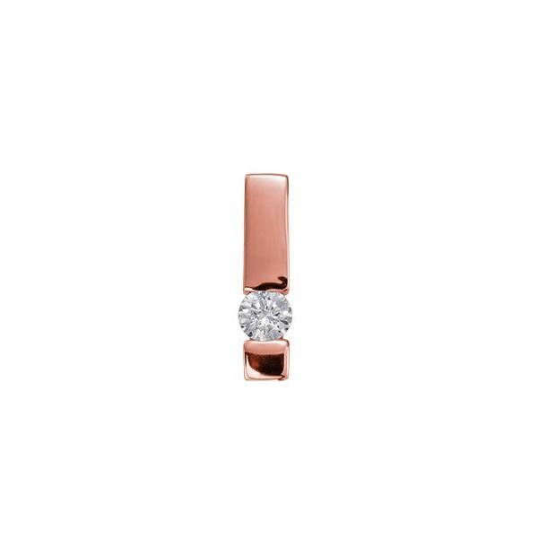 ペンダントトップ 18金 ピンクゴールド 天然石 一粒ペンダント 主石の直径約4.8mm レール留め ペンダントヘッドのみ|K18PG 18k 貴金属 ジュエリー