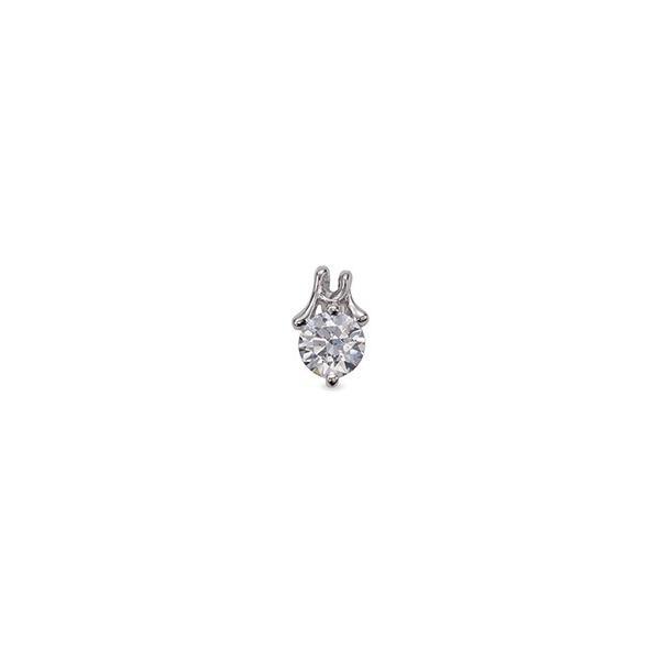 ペンダントトップ 18金 ホワイトゴールド 天然石 M イニシャルモチーフの一粒ペンダント 主石の直径約4.4mm ペンダントヘッドのみ|K18WG 18k 貴金属 ジュエリー