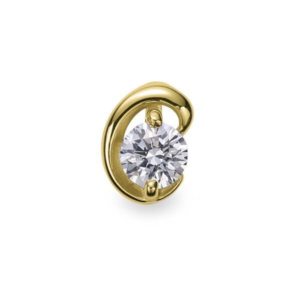 ペンダントトップ 18金 イエローゴールド 天然石 C イニシャルモチーフの一粒ペンダント 主石の直径約3.8mm ペンダントヘッドのみ K18YG 18k 貴金属 ジュエリー