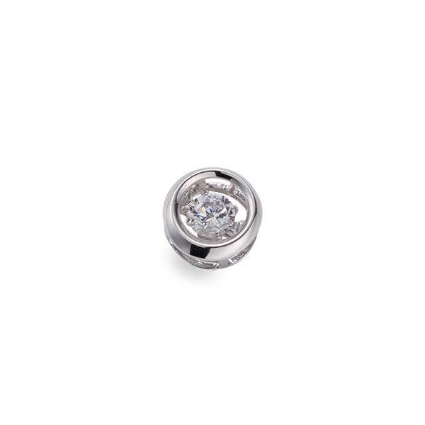 ペンダントトップ PT900 プラチナ 天然石 主石が揺れるラウンド型の一粒ペンダント 主石の直径約5.2mm ダンシングストーン ペンダントヘッドのみ|900pt 貴金属