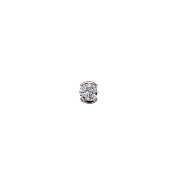 ペンダントトップ PT900 プラチナ 天然石 一粒スルーペンダント 主石の直径約3.8mm レール留め ペンダントヘッドのみ 900pt 貴金属 ジュエリー