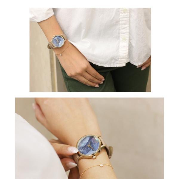 腕時計 レディース ウォッチ フェイクレザー シェルフェイスウォッチ アナログ アクセサリー プレゼント おしゃれ かわいい ruckruck 05