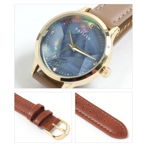 腕時計 レディース ウォッチ フェイクレザー シェルフェイスウォッチ アナログ アクセサリー プレゼント おしゃれ かわいい ruckruck 06