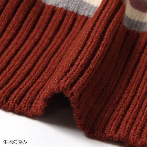 カーディガン レディース 羽織り 秋冬 セーター ケーブル編み 長袖 上着 アウター マルチカラー 配色 可愛い 暖か ruckruck 10