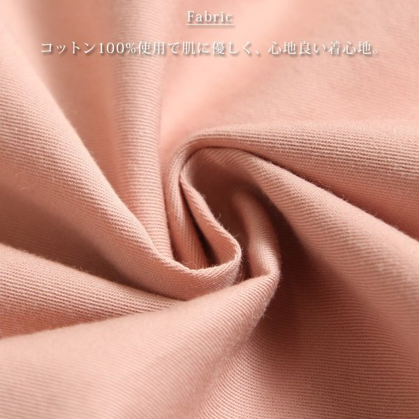 シャツ レディース 長袖 ロング丈 コットン 綿100% ワイド スキッパー ゆったり 大きいサイズ レイヤード 無地 カジュアル|ruckruck|12