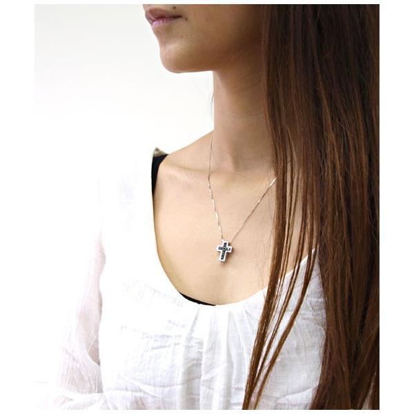 16b3f7e29898d4 ... K10ゴールドネックレス ペンダント クロス バイカラー パヴェ ダイヤモンド k10ネックレス レディース かわいい SALE セール 激安