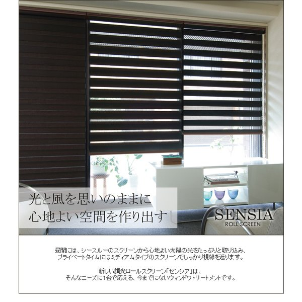 ロールスクリーン TOSO センシア 調光 幅90×高さ150cm ベーシックシリーズ|rugmat|02