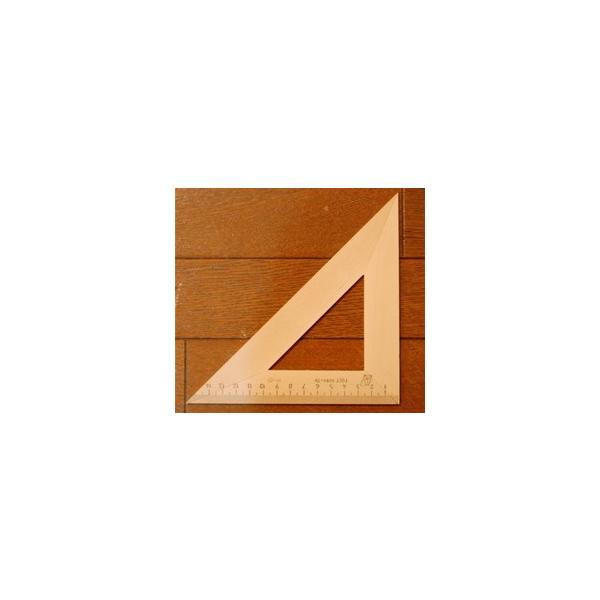 木製三角定規 14cm (二等辺三角形)