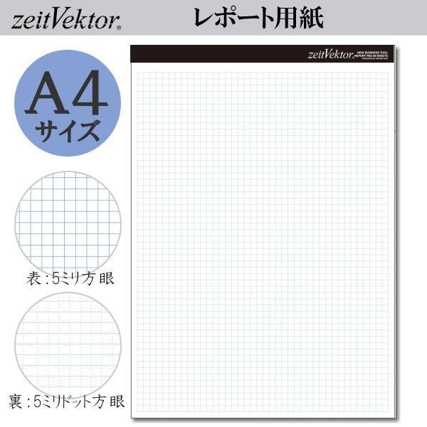 zeit Vektor/ツァイトベクター レポート用紙 A4サイズ ミシン目付き両面使用可能タイプ 方眼・ドット方眼 レイメイ藤井 24-ZVP455 【ネコポス可】