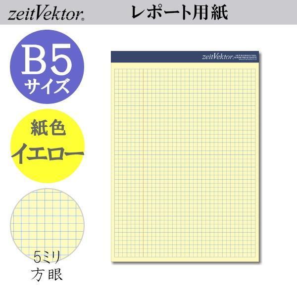 zeit Vektor/ツァイトベクター レポート用紙 B5サイズ ミシン目付きイエロータイプ 方眼 レイメイ藤井 24-ZVP406 【ネコポス可】