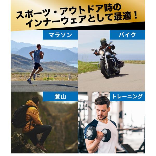 コンプレッションタイツ スポーツ トレーニング メンズ オールシーズン インナー タイツ ボトム インナーウェア ジョギング マラソン 吸汗 速乾|rukodo|12