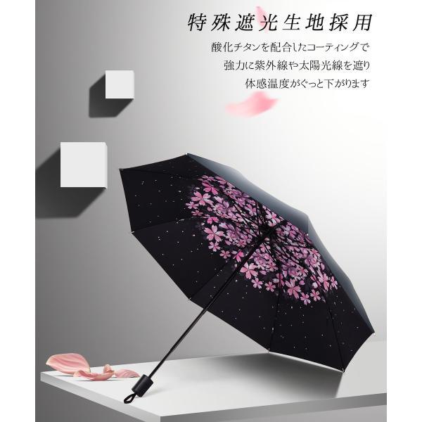 折りたたみ傘 日傘 晴雨兼用 uvカット 遮光 レディース 手開き 雨傘 撥水 花柄 星柄 大きいサイズ 折り畳み ポイント消化 送料無料|rukodo|11