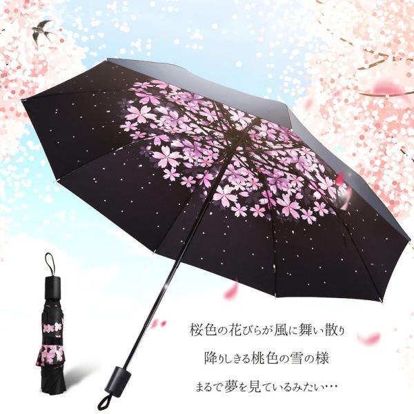 折りたたみ傘 日傘 晴雨兼用 uvカット 遮光 レディース 手開き 雨傘 撥水 花柄 星柄 大きいサイズ 折り畳み ポイント消化 送料無料|rukodo|04